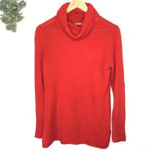 Athleta Orange Surrey Cashmere Turtleneck Sweater